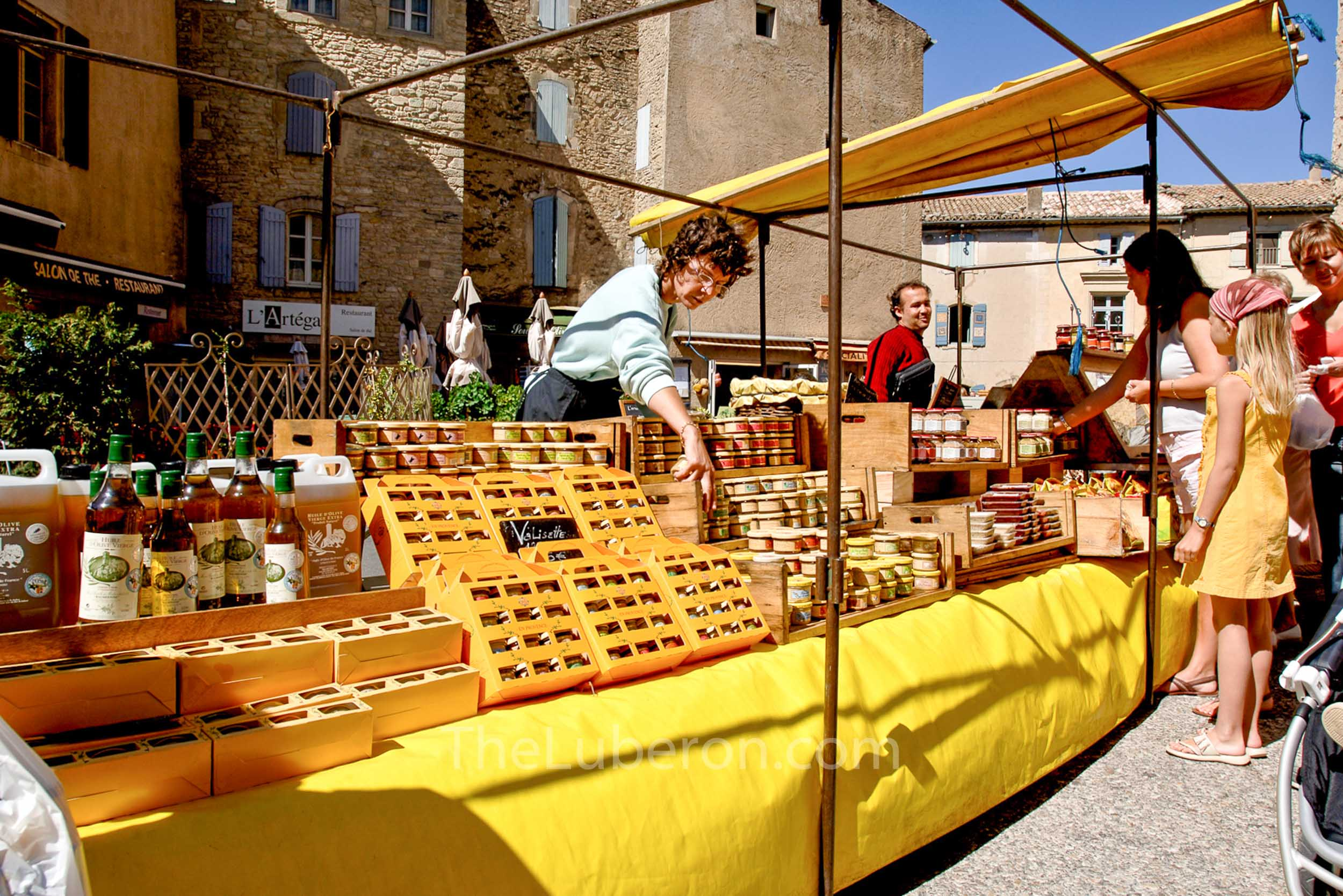 Stallholder at Gordes market