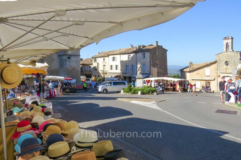 Stalls at Gordes market