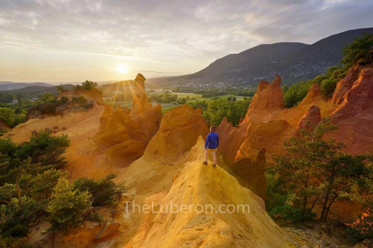 Hiker in the Colorado Provencal