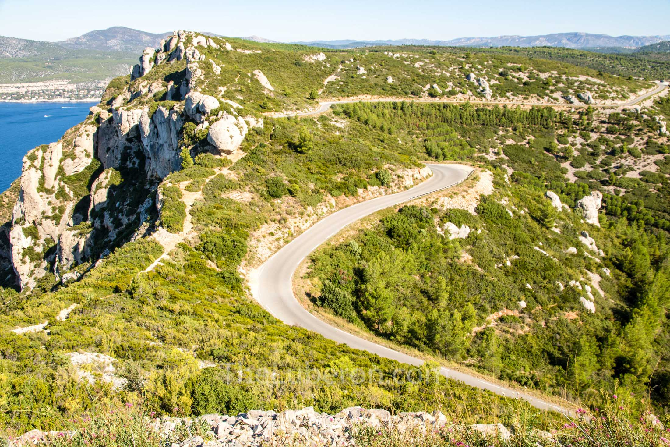 Road from Cassis to La Ciotat