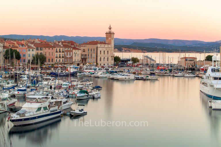 La Ciotat harbour at dusk