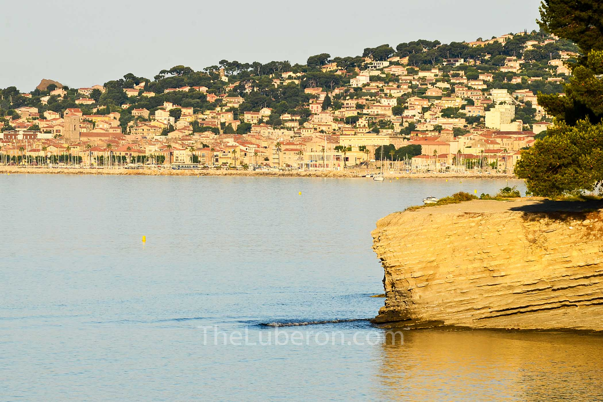 La Ciotat from across the bay