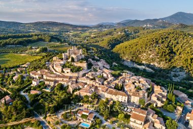 Aerial view of Le Barroux