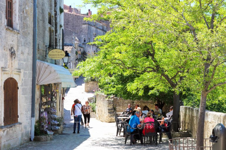 Street scene in Les Baux-de-Provence