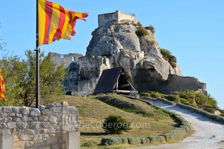 Flag flying in Les Baux-de-Provence