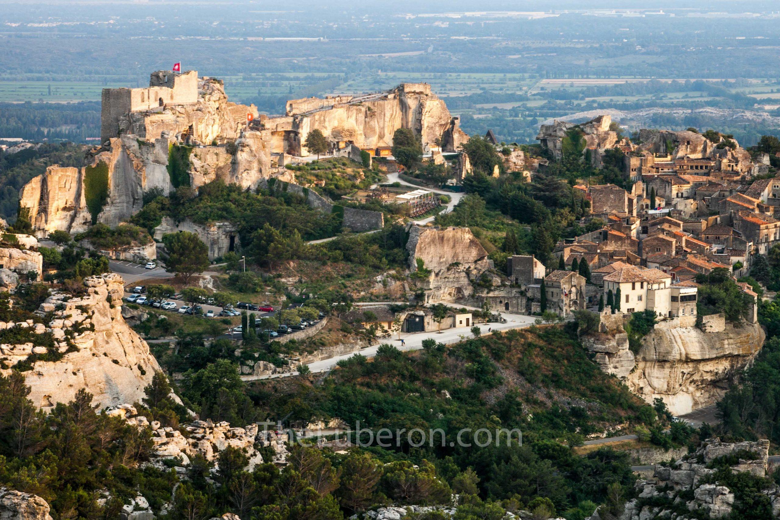 Aeria view of les Baux-de-Provence