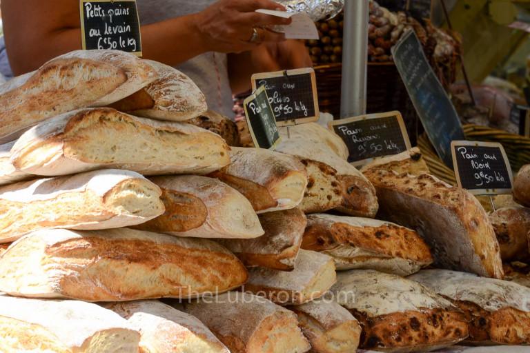 Bread for sale at Lourmarin market