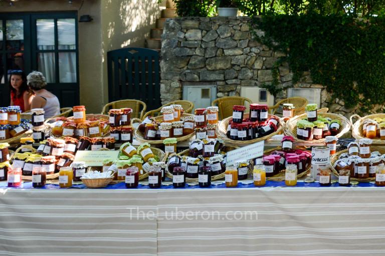 Jams at Lourmarin market
