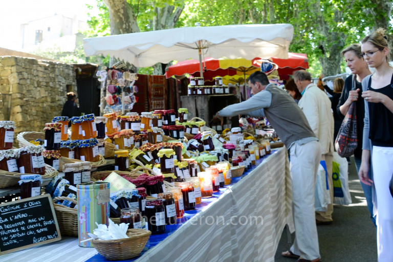 Jam stall at Lourmarin market