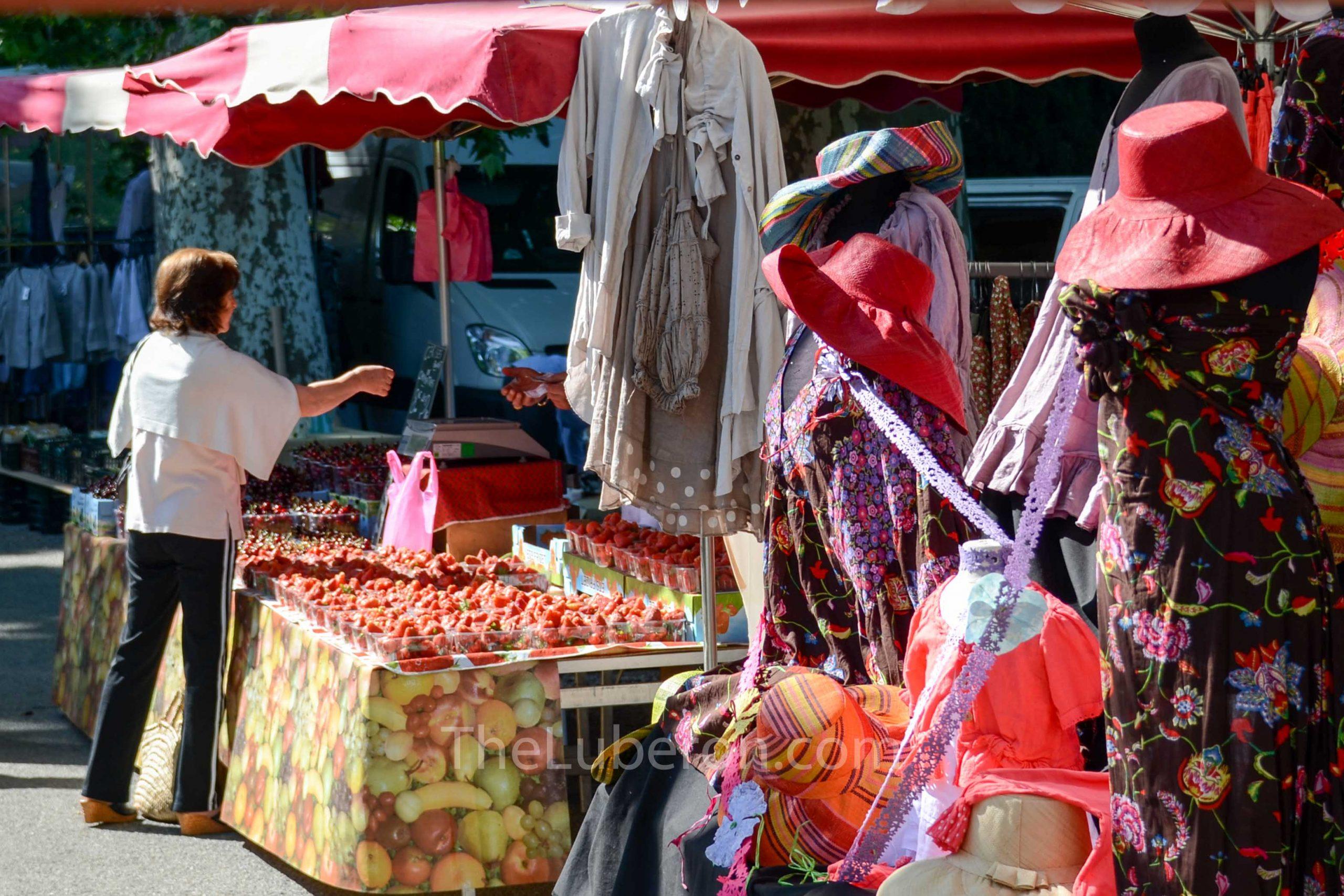 Strawberry seller at Lourmarin market