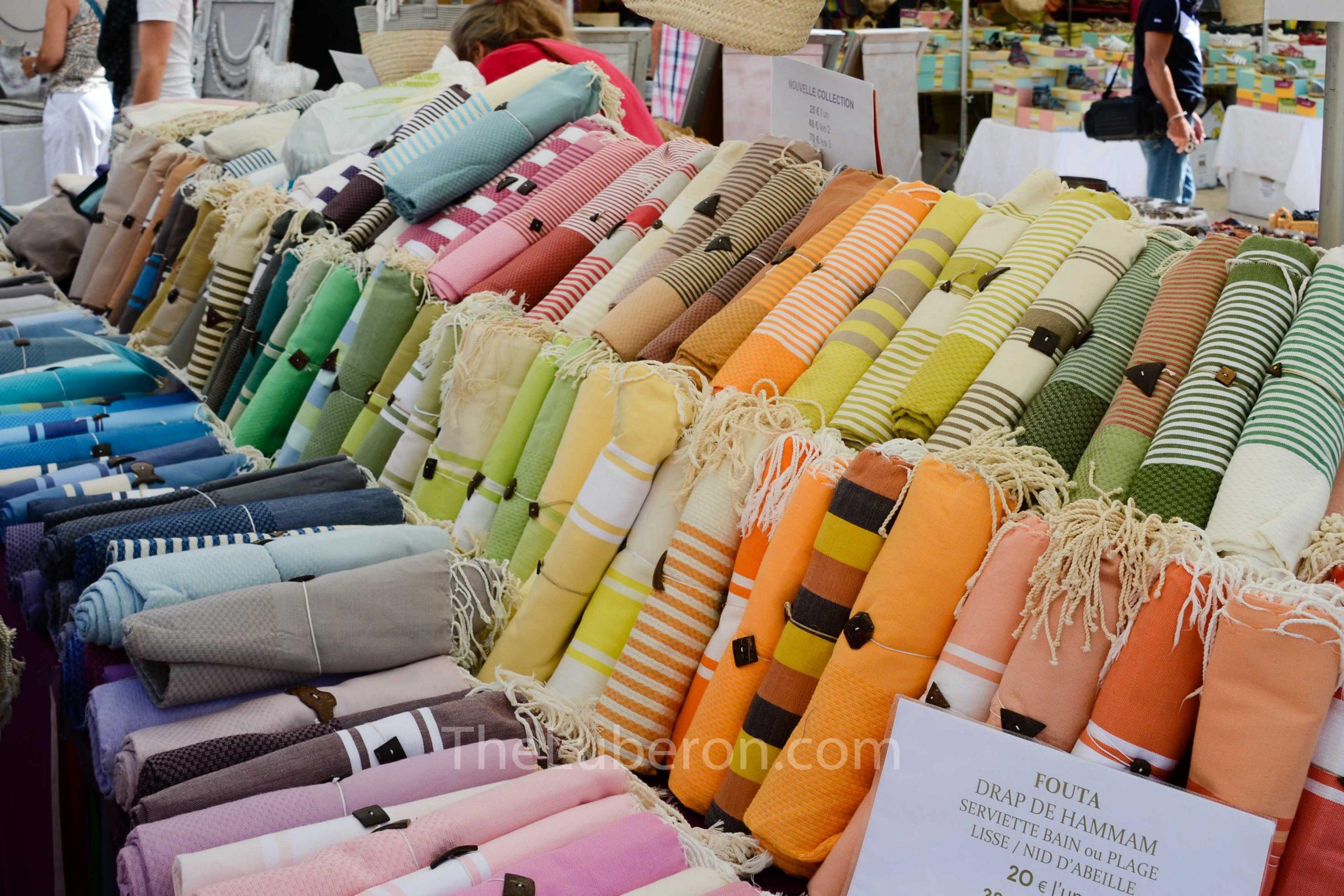 Fabrics at Lourmarin market