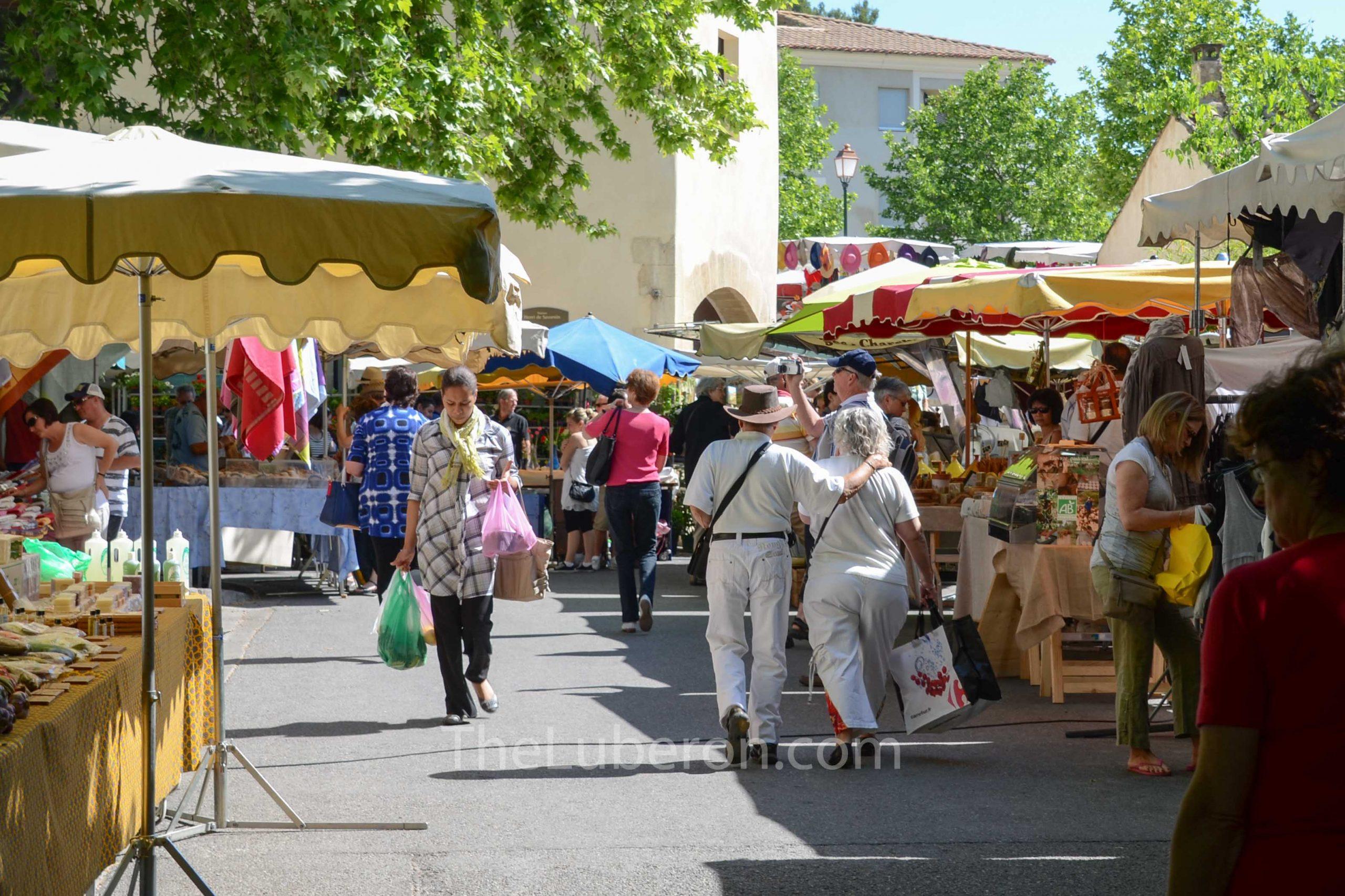 Summer day at Lourmarin market