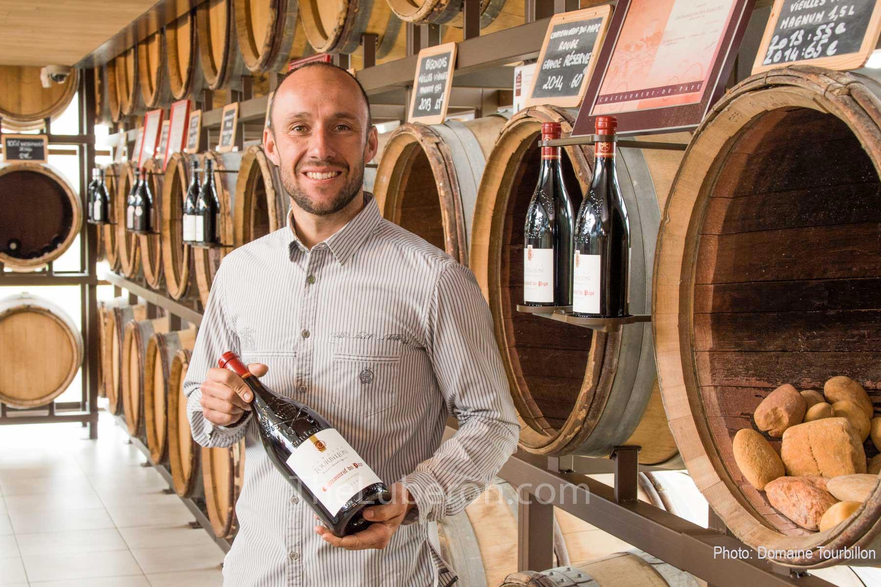 presenting wine