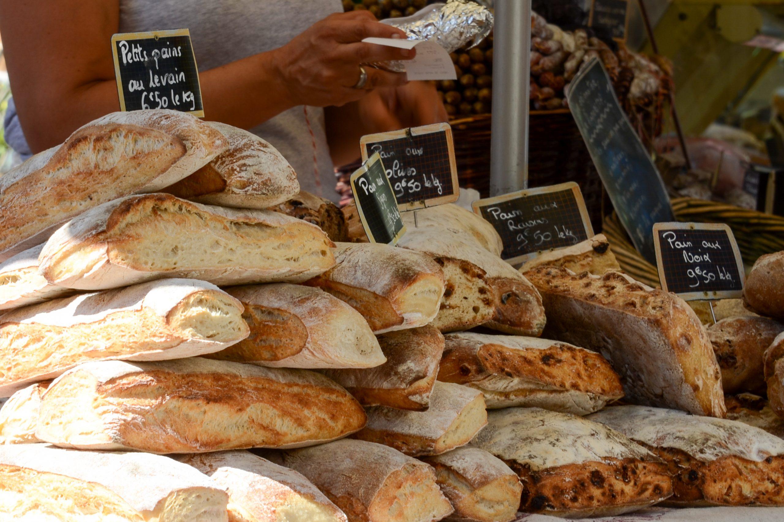 Bread sold at Lourmarin market