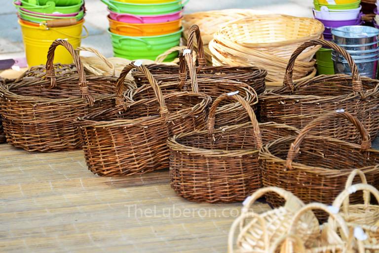 Baskets at Menerbes market