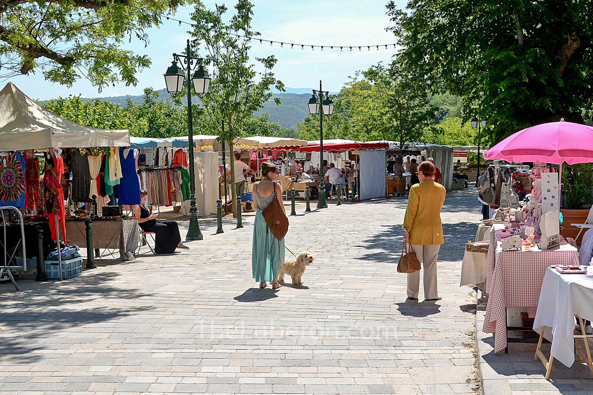 Sunny day at Menerbes market