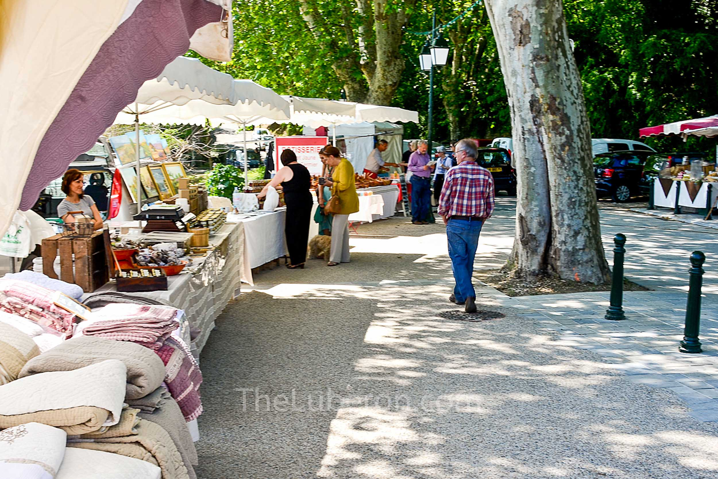 The market in the streets of Menerbes