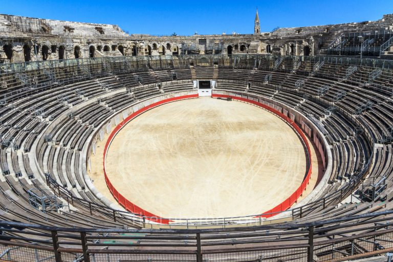 Inside the arenes of Nimes