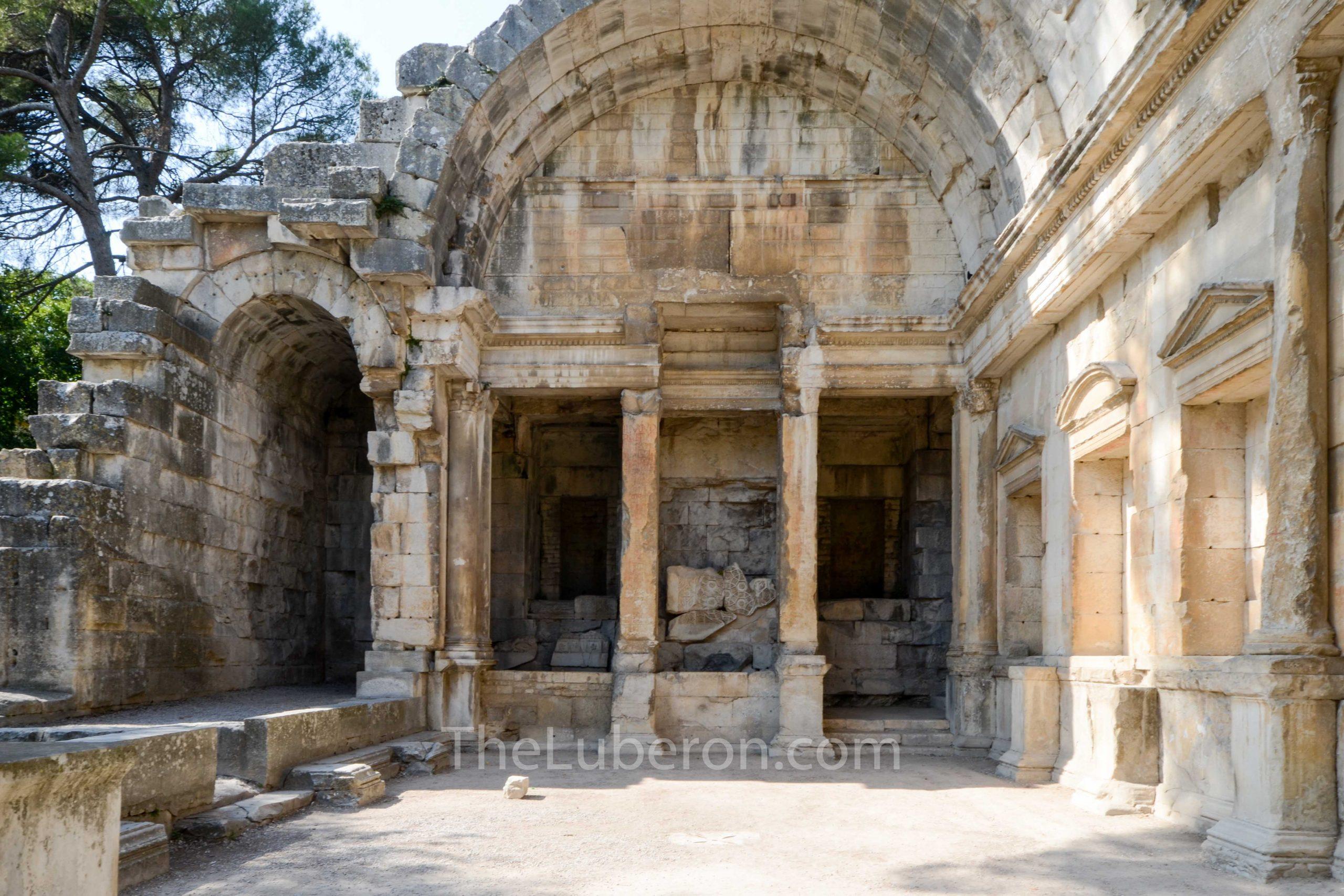 Temple o f Diana detail, Nimes