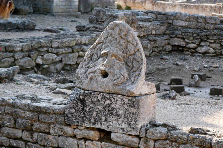Face statue at Glanum