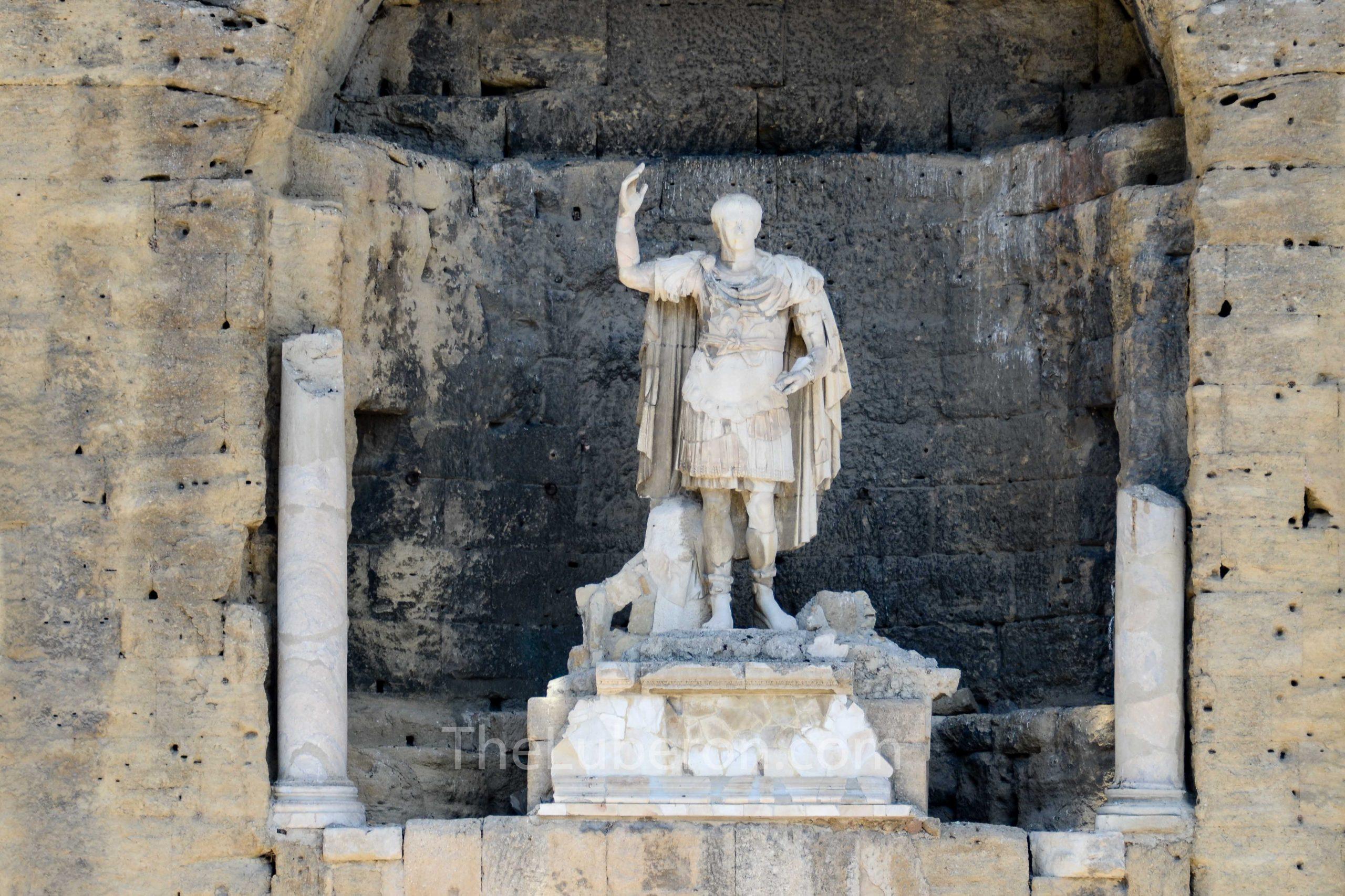 Detail of Roman theatre, Orange