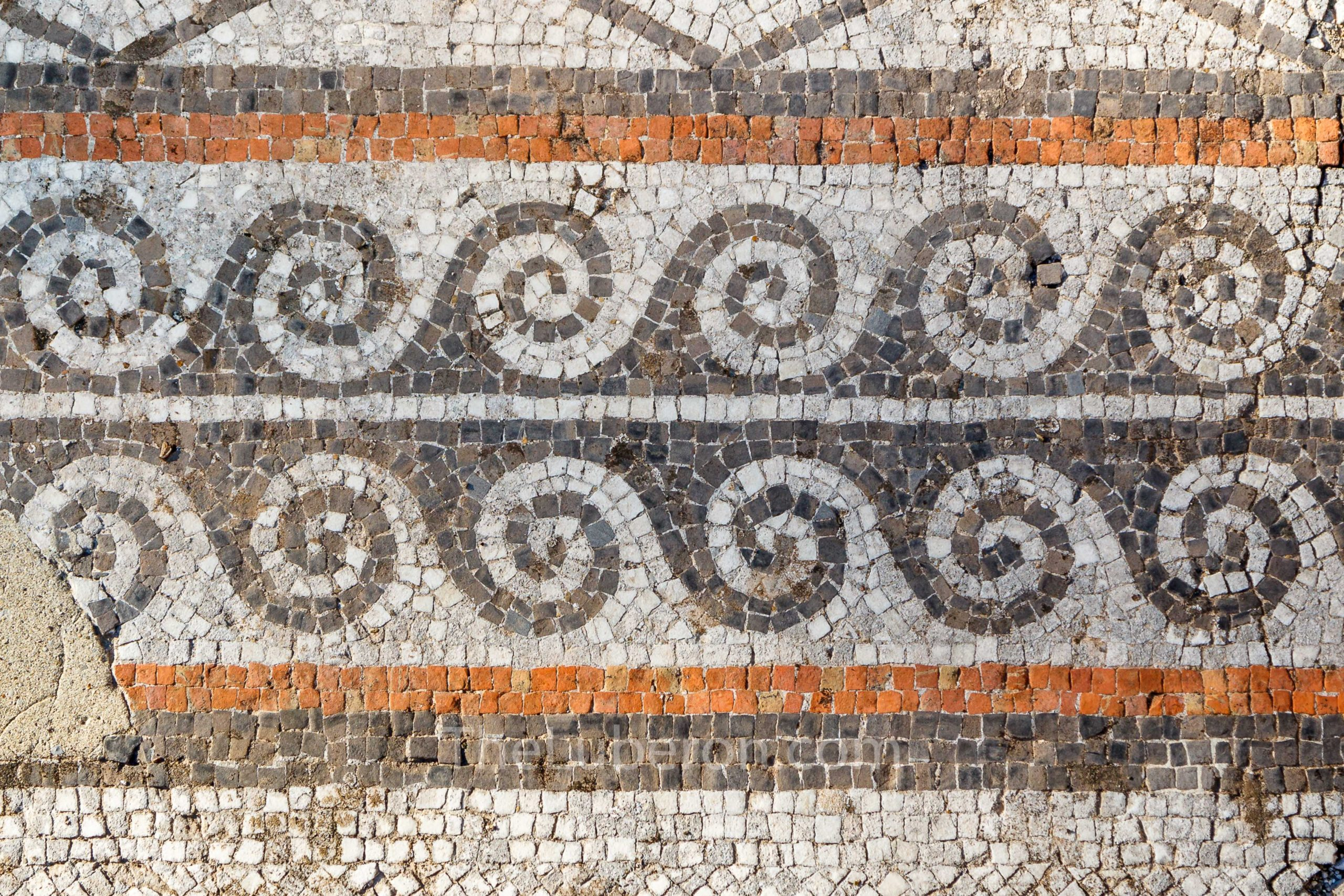 Roman tiles at Vaison-la-Romaine