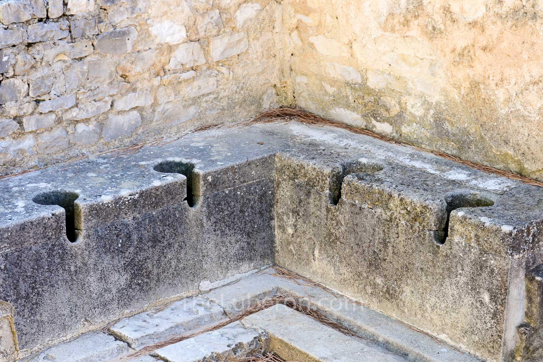 Roman toilets at Vaison-la-Romaine