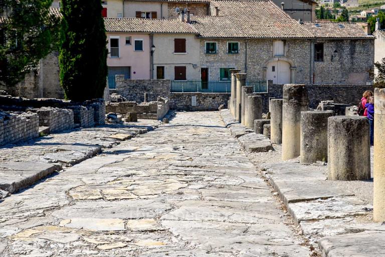Roman street at Vaison-la-Romaine