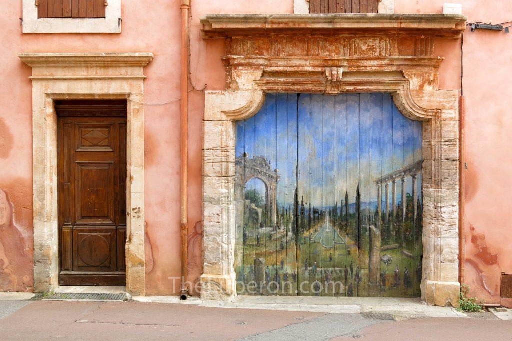 Roussillon painted door