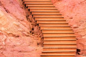 Steps in ochre quarry, Roussillon