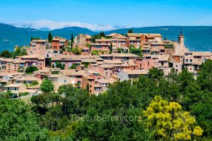 Roussillon with Mt Ventoux behind