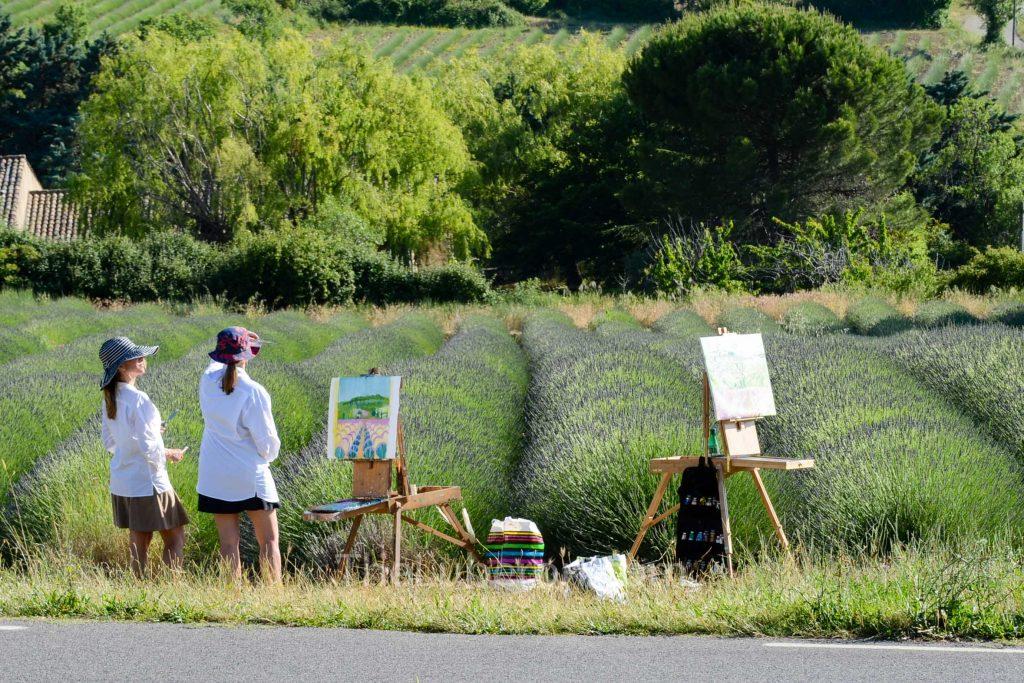 Painters near Saignon