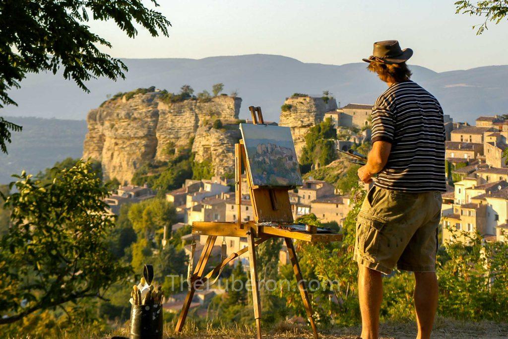 Man painting Saignon