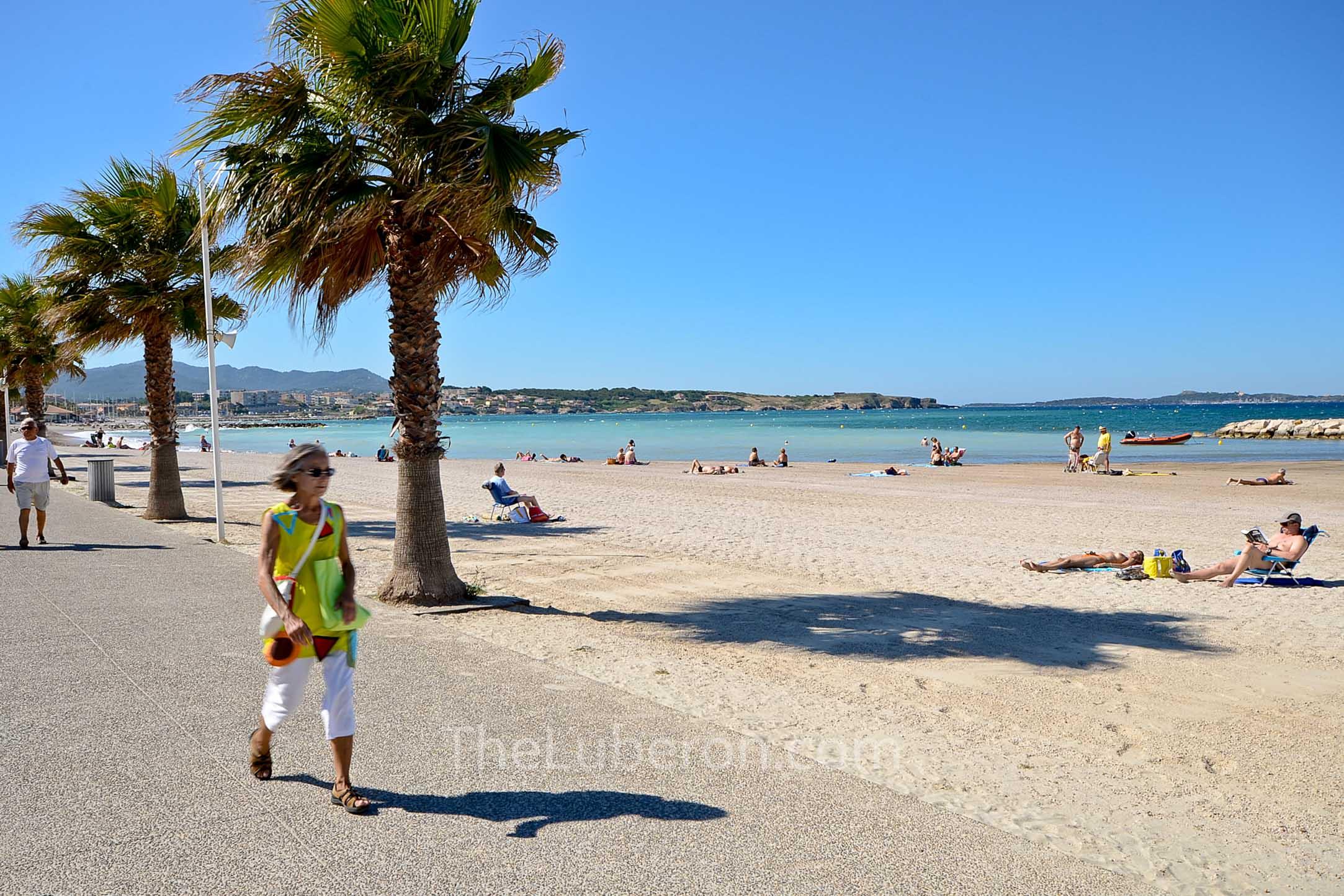 Beach walker at Sanary-sur-Mer