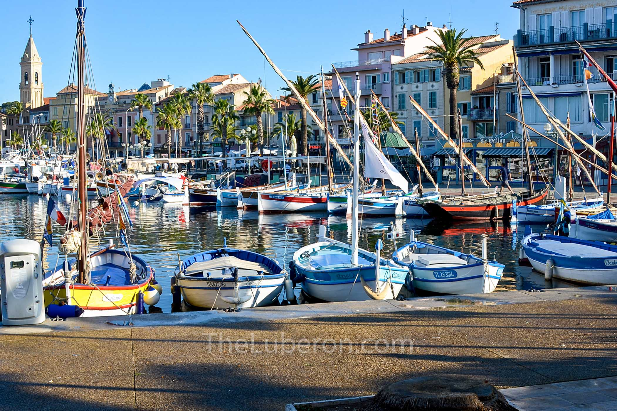 Harbour with boats at Sanary-sur-Mer