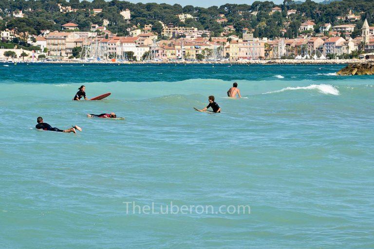 Surfers in Sanary-sur-Mer