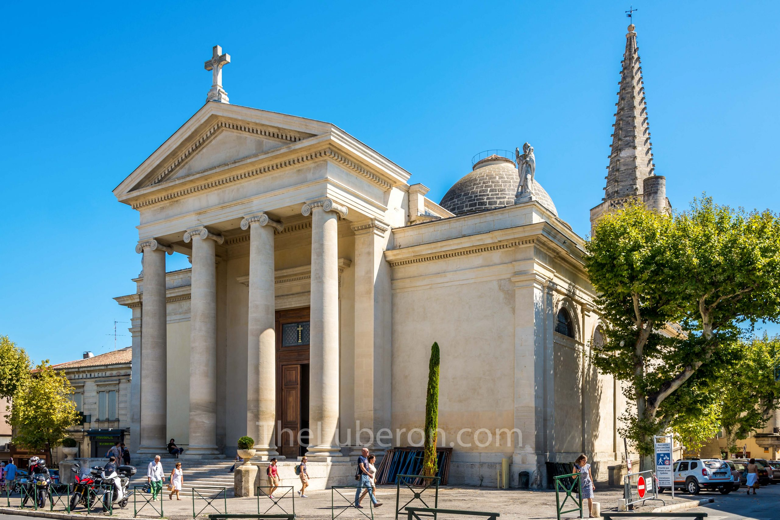 St Martin church in the centre of St Remy de Provence