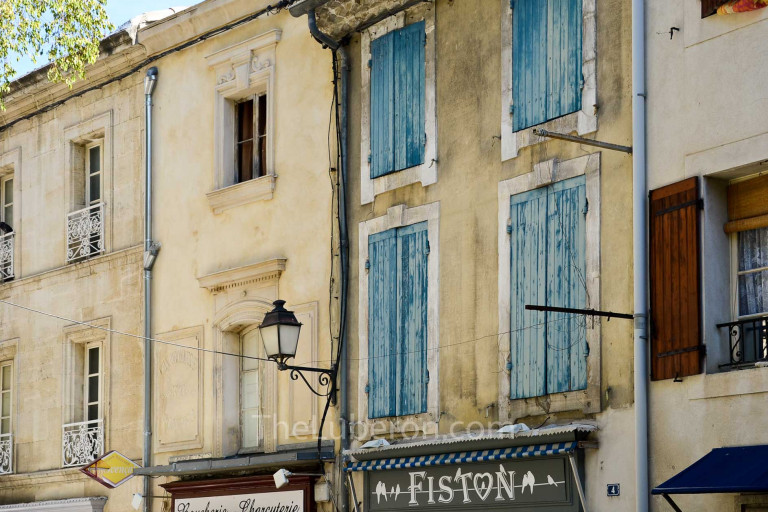 Blue shutters in St-Remy streets