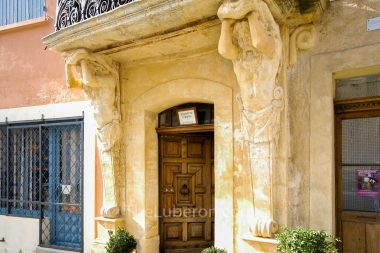 Ornate doorway in St-Saturnin-les-Apt