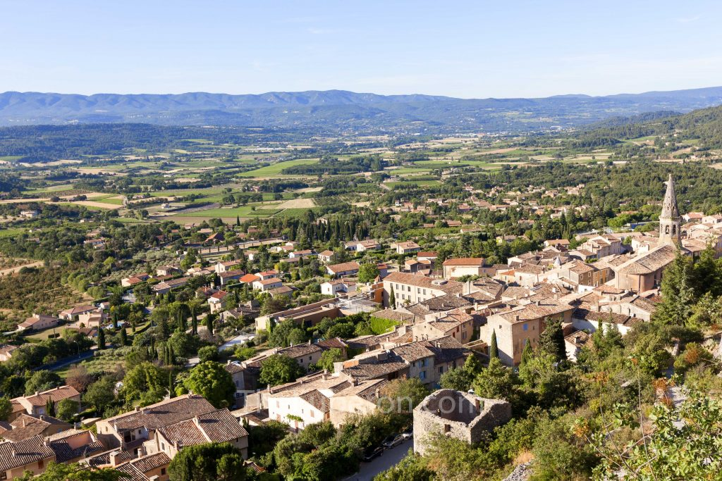 View from top of St-Saturnin-les-Apt
