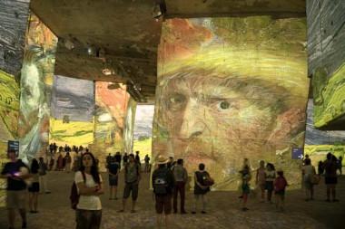 van Gogh show in the Carrieres de Lumieres, Les Baux