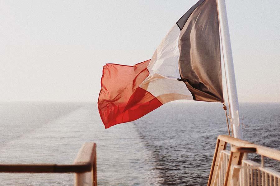 Ferry crossing sea