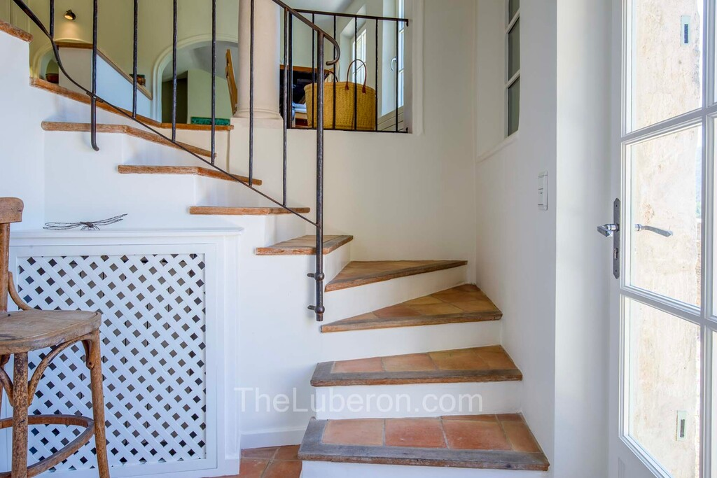 stairs with terracotta tiles